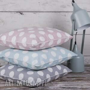 białe poduszki poszewka na poduszkę kropy - 3