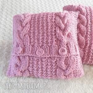 poduszki robione ręcznie wełna