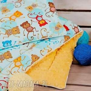 modne pokoik dziecka minky komplet kocyk z poduszką