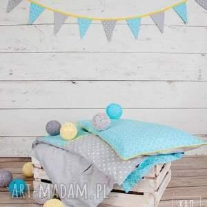 turkusowe pokoik dziecka kołderka pościel dziecięca lato