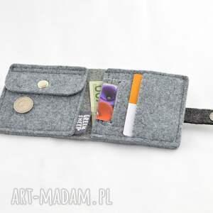 skórzany portfele minimalistyczny portfel- mini