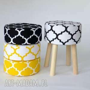 unikalne pufy prezent stołek fjerne m biało-czarna