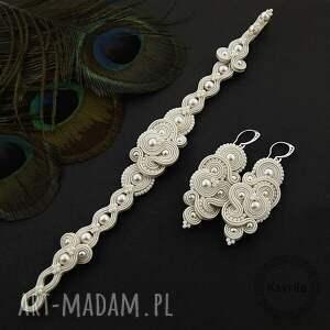 hand-made ślub ślubny komplet mirino pearl