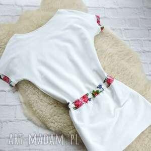 folk sukienki biała sukienka dresowa oversize
