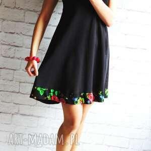 niepowtarzalne sukienki sukienka dresowa trapezowa