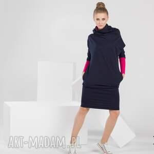 modne sukienki sukienka long tube | dresowa