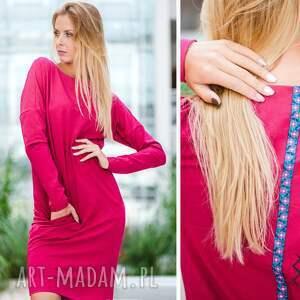 handmade sukienki sukienka overlong   dresowa
