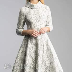 niesztampowe sukienki koronka sukienka donna midi noemi