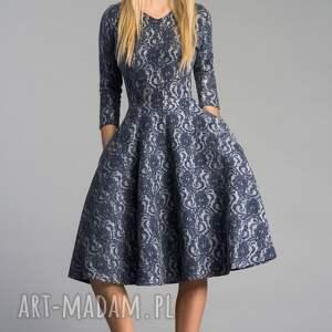 niebieskie sukienki sukienka fler midi tamara