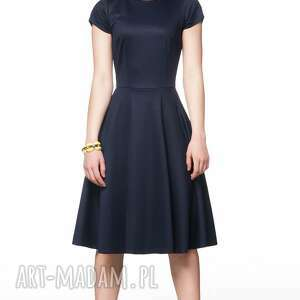 wyjątkowe sukienki sukeinka sukienka star midi granat