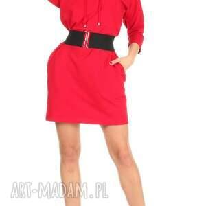 trendy sukienki lalu 46-sukienka sznurowany dekolt