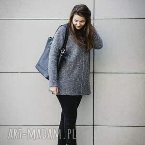 szare swetry sweter szary melanżowy