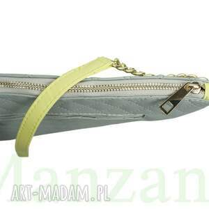 torebki listonoszka duża na łańcuszku siwa