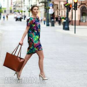 ręczne wykonanie tuniki sukienka sukienka/tunika fiore - blu