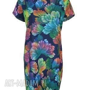 tuniki tunika sukienka/tunika fiore - blu