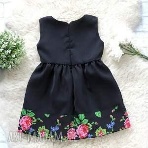 ubranka sukienka czarna góralska folkowa