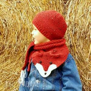 pomarańczowe ubranka czapka lisi komplet