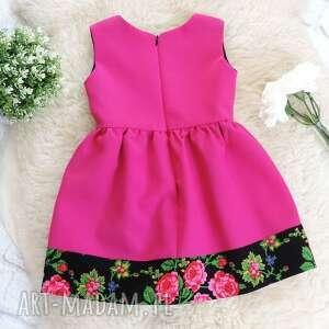 folk ubranka różowa sukienka góralska folkowa