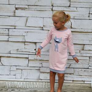 różowe ubranka kot tunika