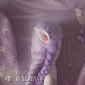 lalka zabawki fioletowe bajka z magiczną szafą - elfia