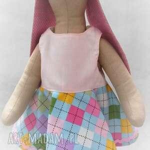 handmade zabawki maskotka zajączek tilda